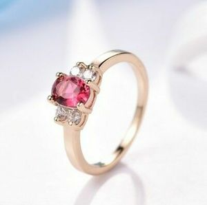 Jewelry - New Beautiful 18k Solid Gold Filled Red Ruby SZ9